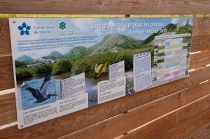 Interpretive sign at Etang de la Barriere