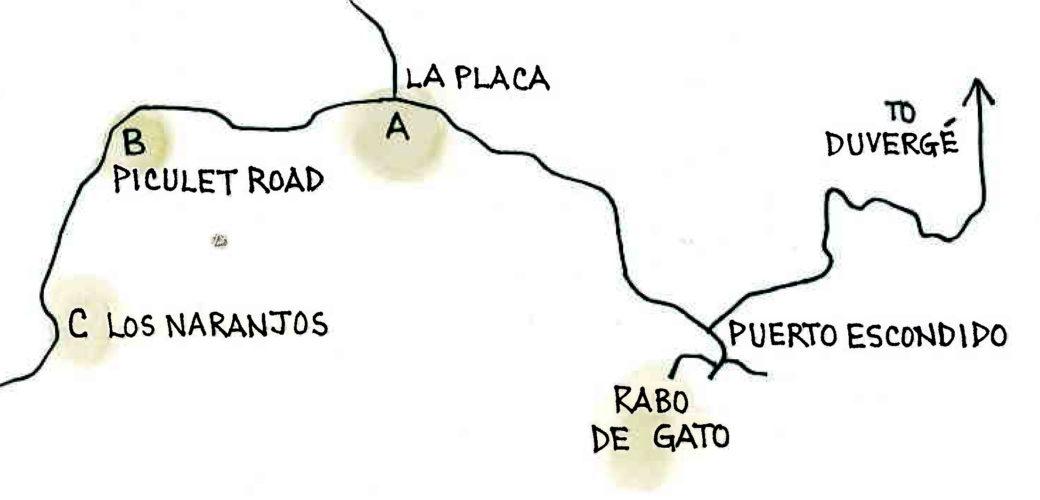 Rabo de Gato (Map by Dana Gardner)