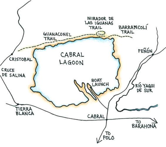 Cabral Lagoon (Map by Dana Gardner)
