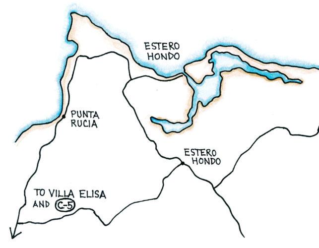 Estero Hondo (Map by Dana Gardner)