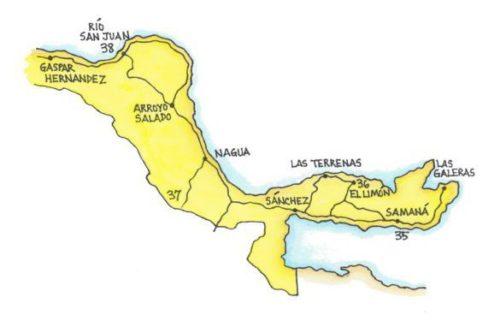 Samana and the North Coast, East (Map by Dana Gardner)